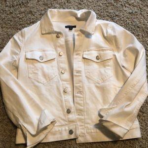 JCrew Mercantile White Jean Jacket